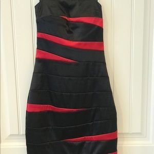 B.Darlin Black and Red Cocktail Dress